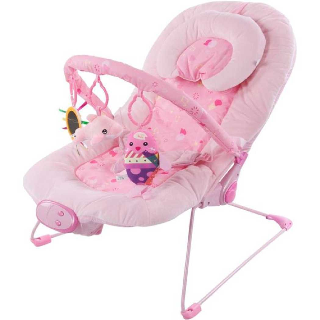 Baby Bouncer Luxury Rocker Soft Fabric Vibrates And Plays Music
